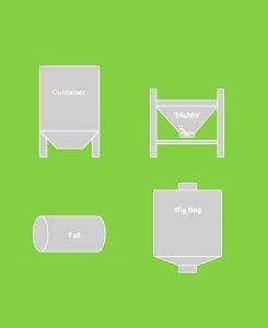 Containermischer Behälterformen