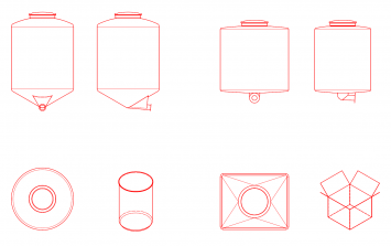 PE Inliner für Container, Fässer und Kartons