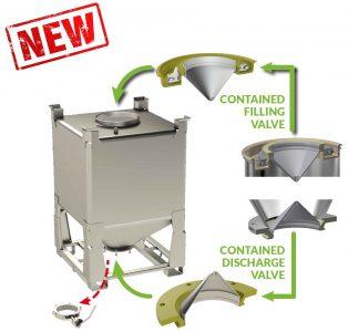 containment valve für Container, Big Bags oder Fässer