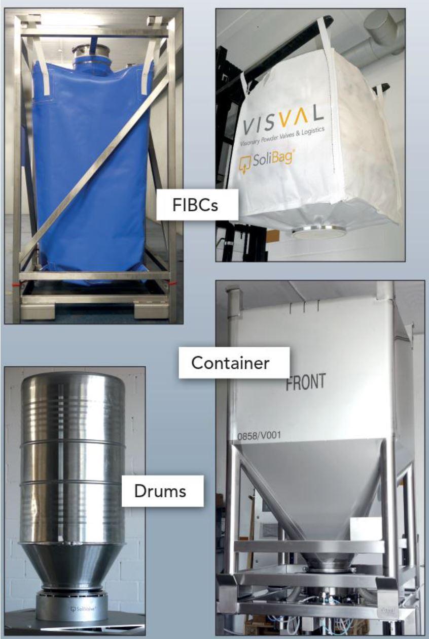 Containment Valve für verschiedene Verpackungen